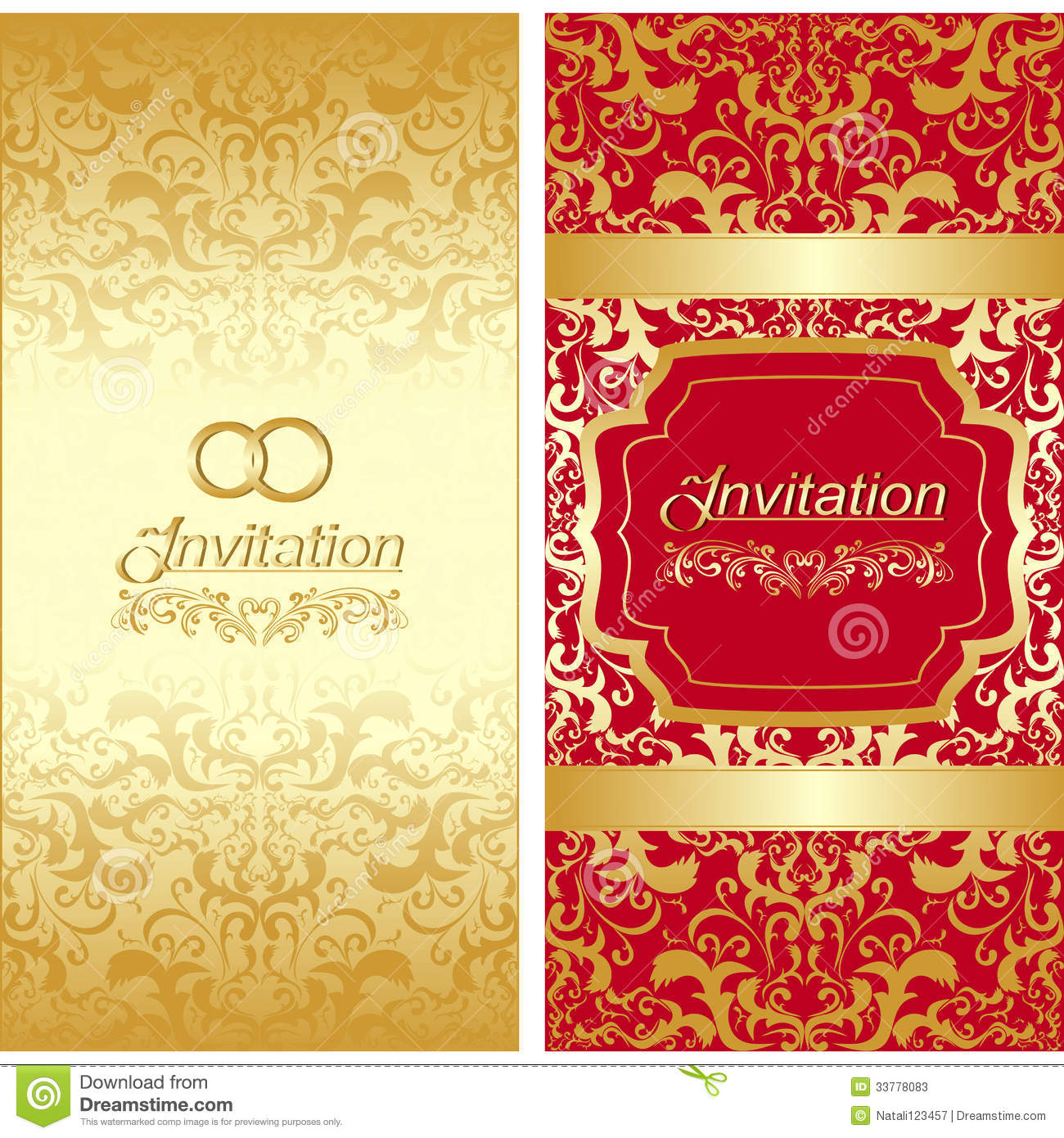 Invitation card design stock vector. Illustration of abstract - 33778083