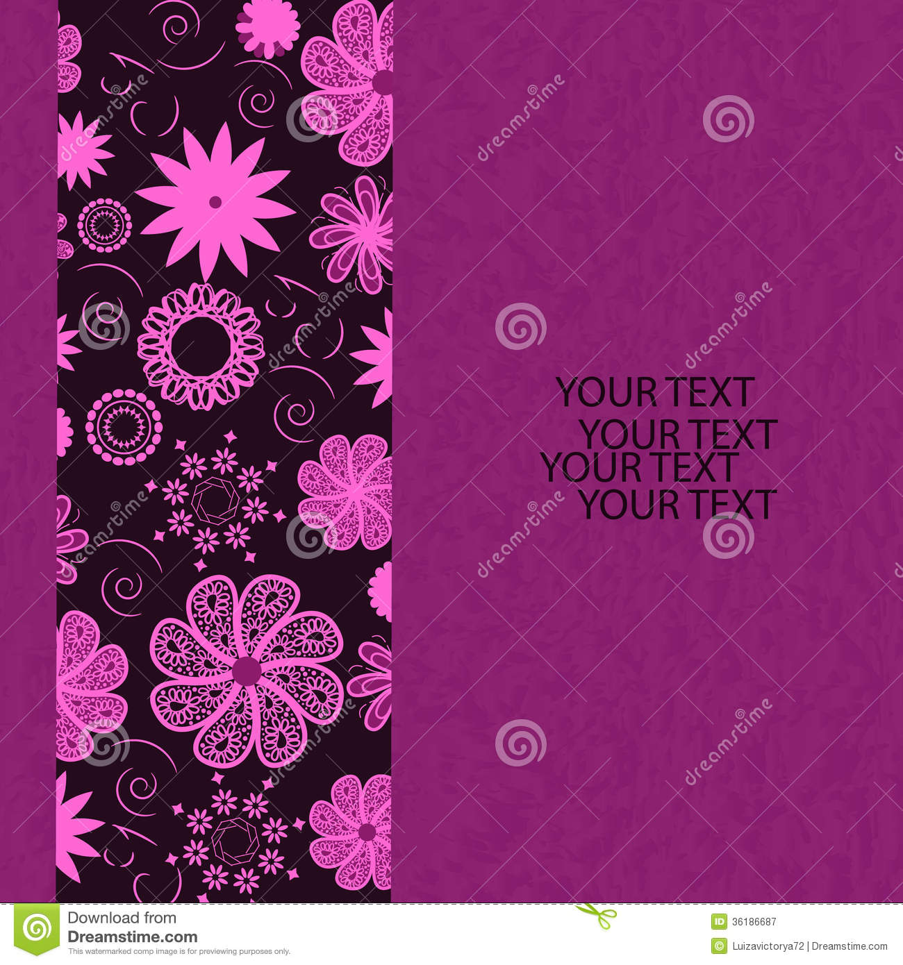 Template frame design for card. Can be used for invitations, template ...