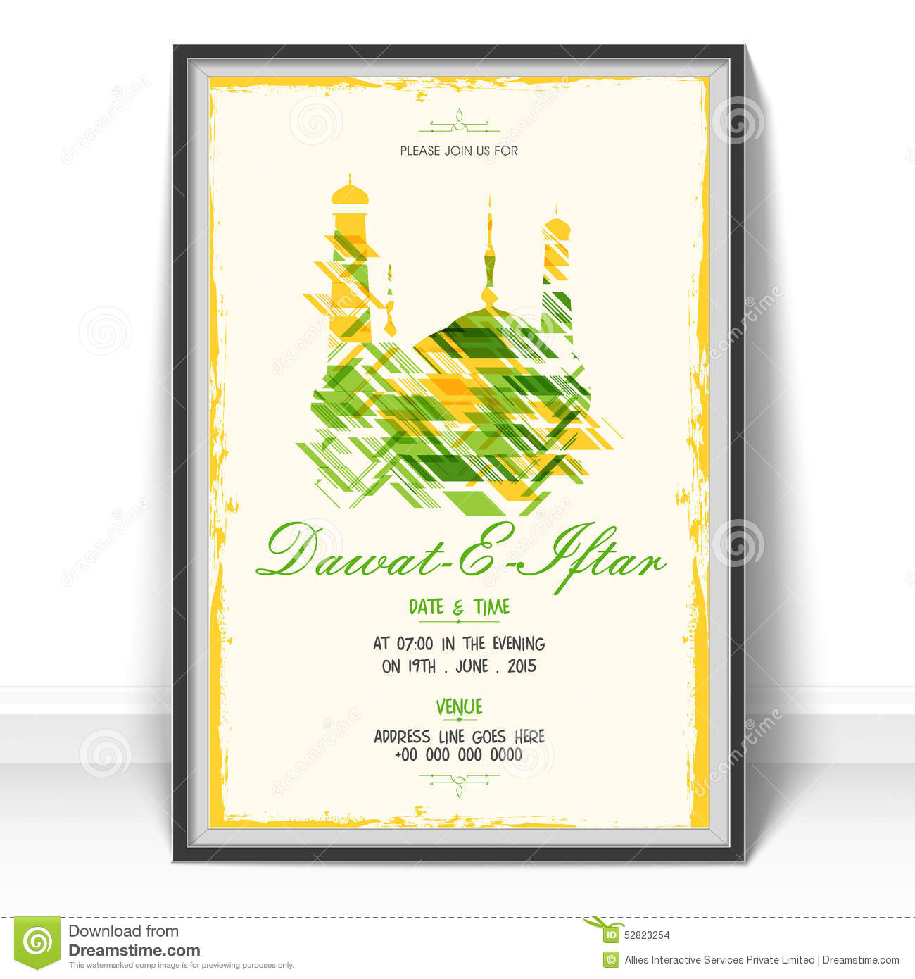 Invitation Card For Holy Month Ramadan Kareem Iftar Party ...