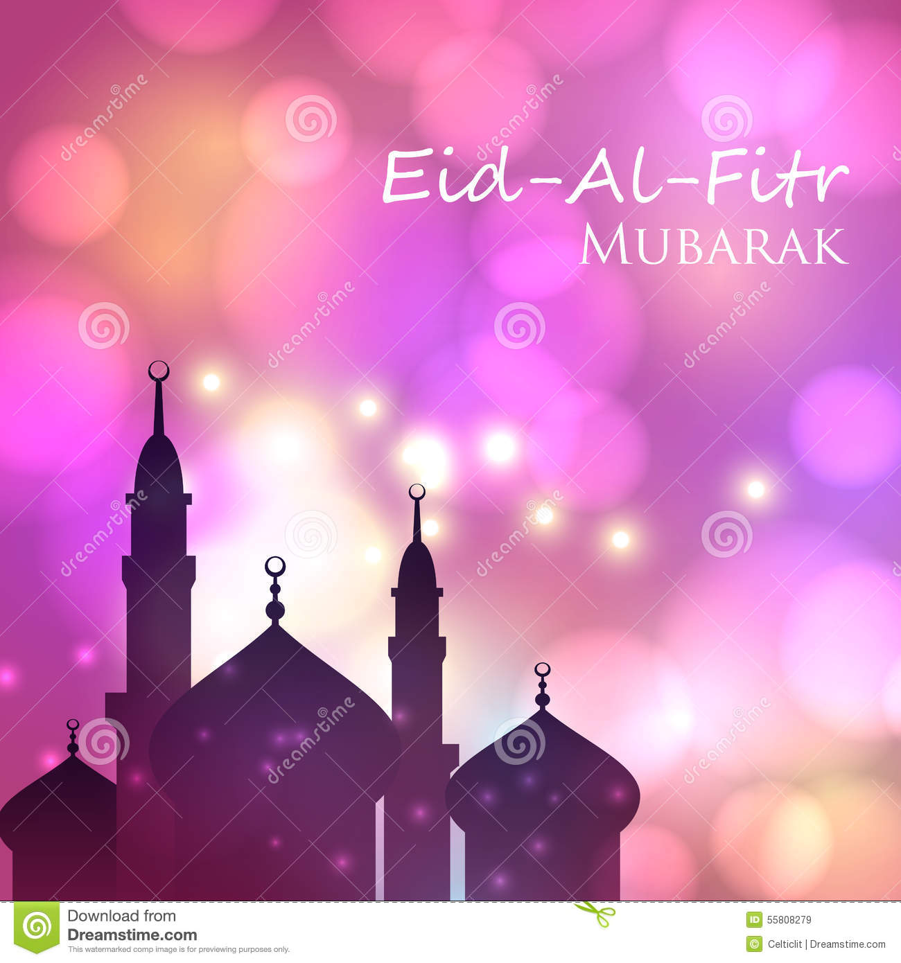 Invitation Card For Muslim Festival Eid Al Fitr Stock ...