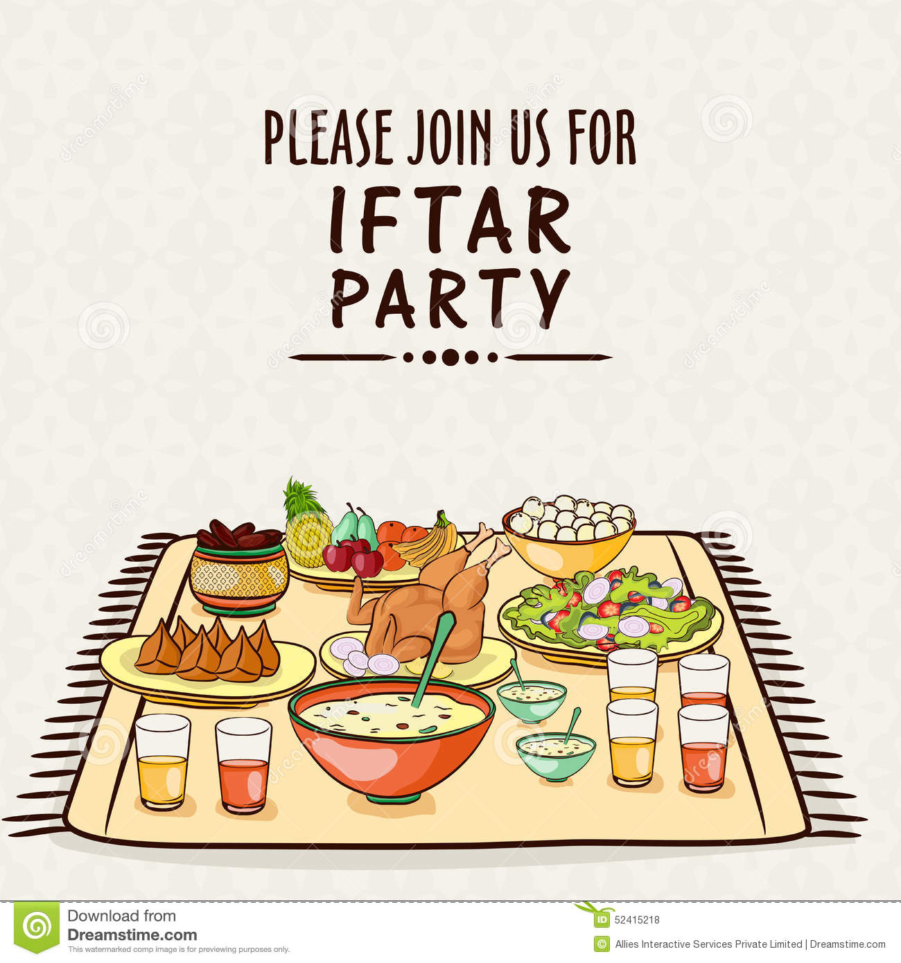 Invitation card for ramadan kareem iftar party celebration stock invitation card for ramadan kareem iftar party celebration stopboris Image collections
