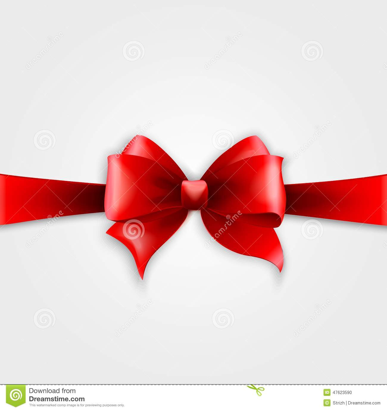 Invitation card with red holiday ribbon and bow stock vector download comp stopboris Gallery