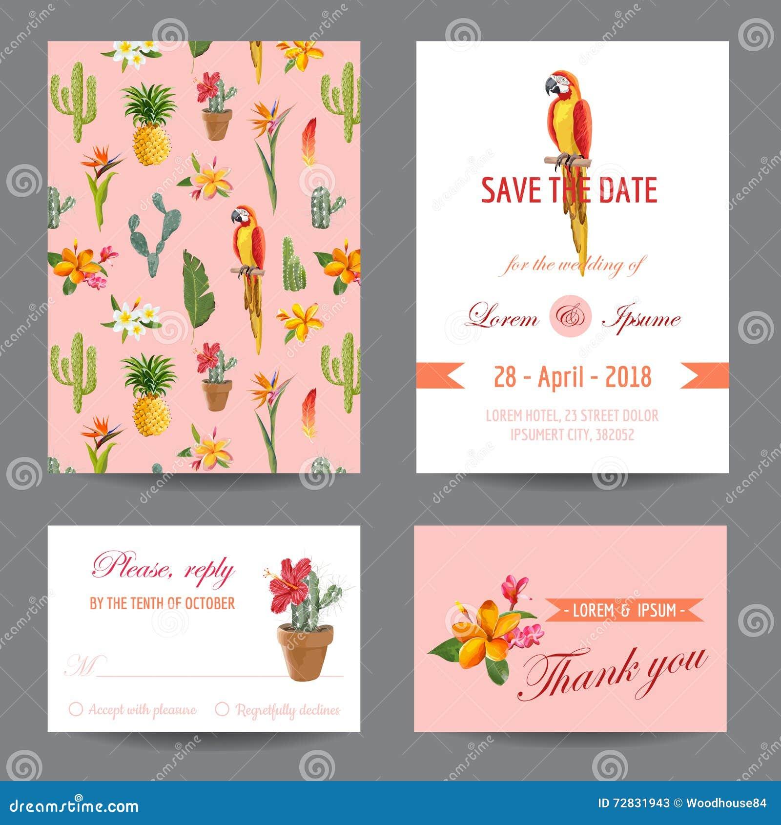 Invitation Card Save The Date Card Wedding Card Stock Vector