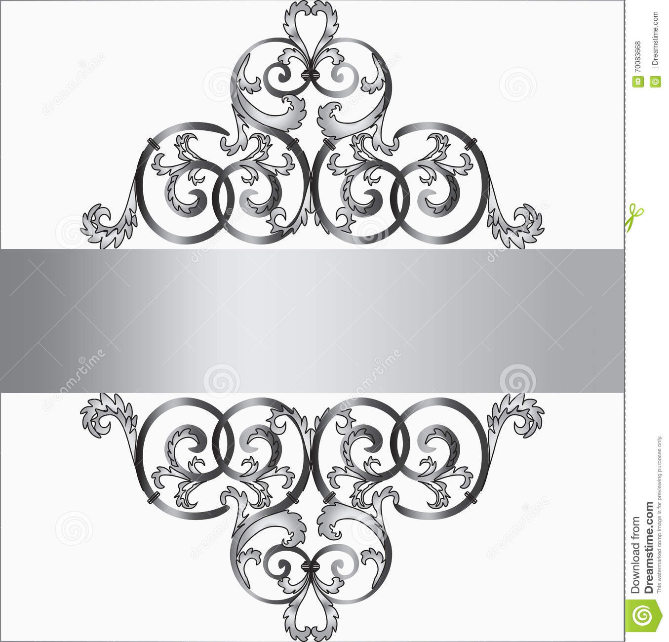 Invitation card in silver ornament stock vector illustration of invitation card in silver ornament stopboris Image collections