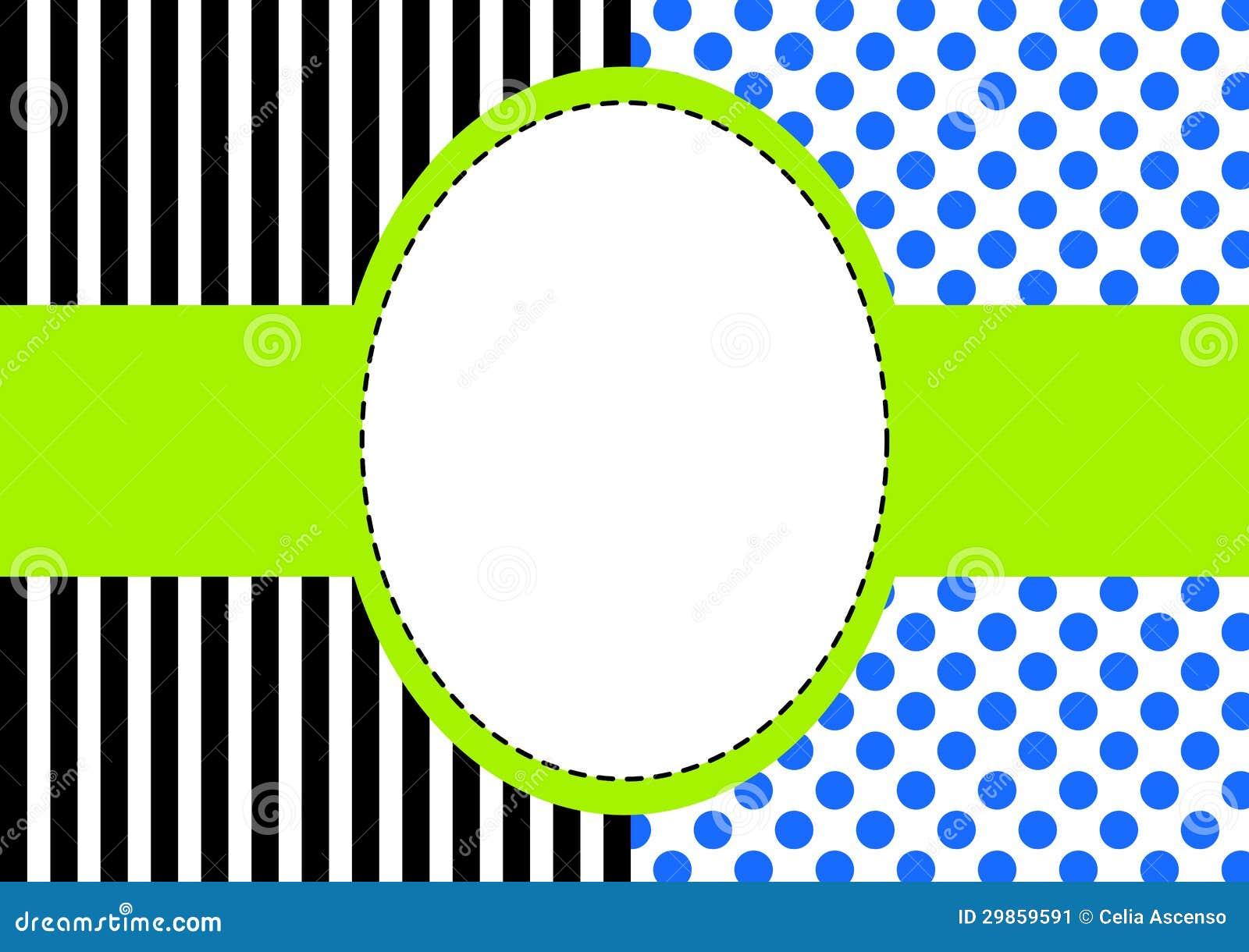 Polka Dots And Stripes Frame Stock Image Image 29859591