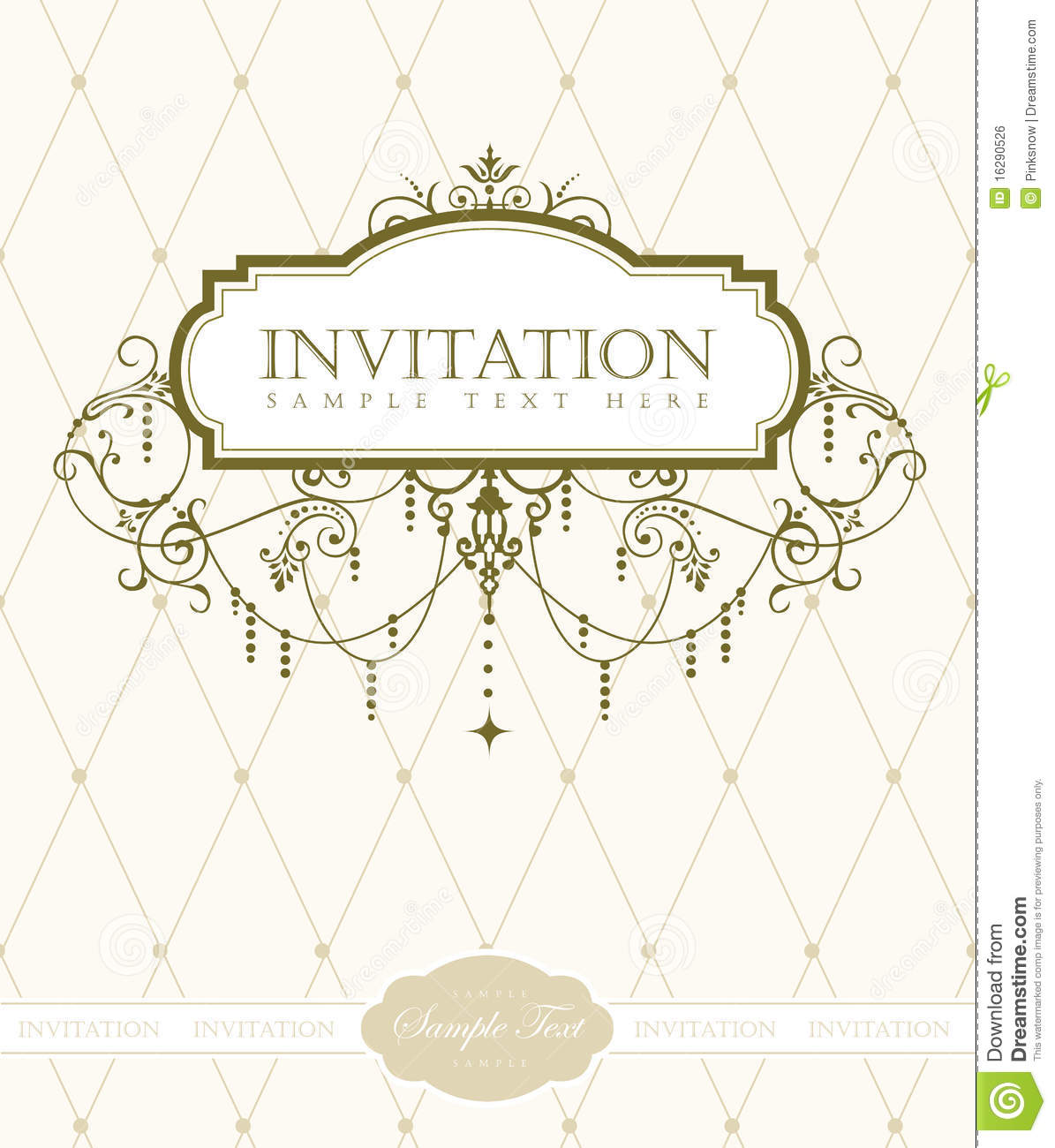 Free Invitation Design Templates Invitation Card Template Stock Vectorillustration Of Chandelier .