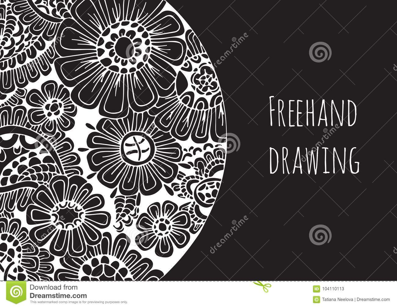 An Invitation Card Template Abstract Hand Drawn Vector