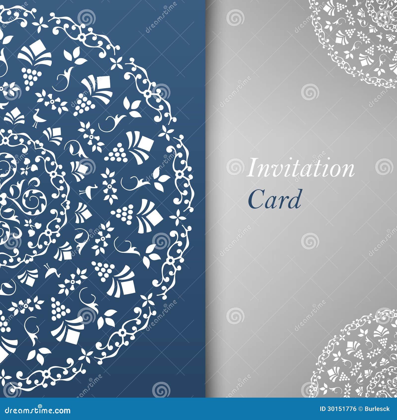 free invitation card design template .