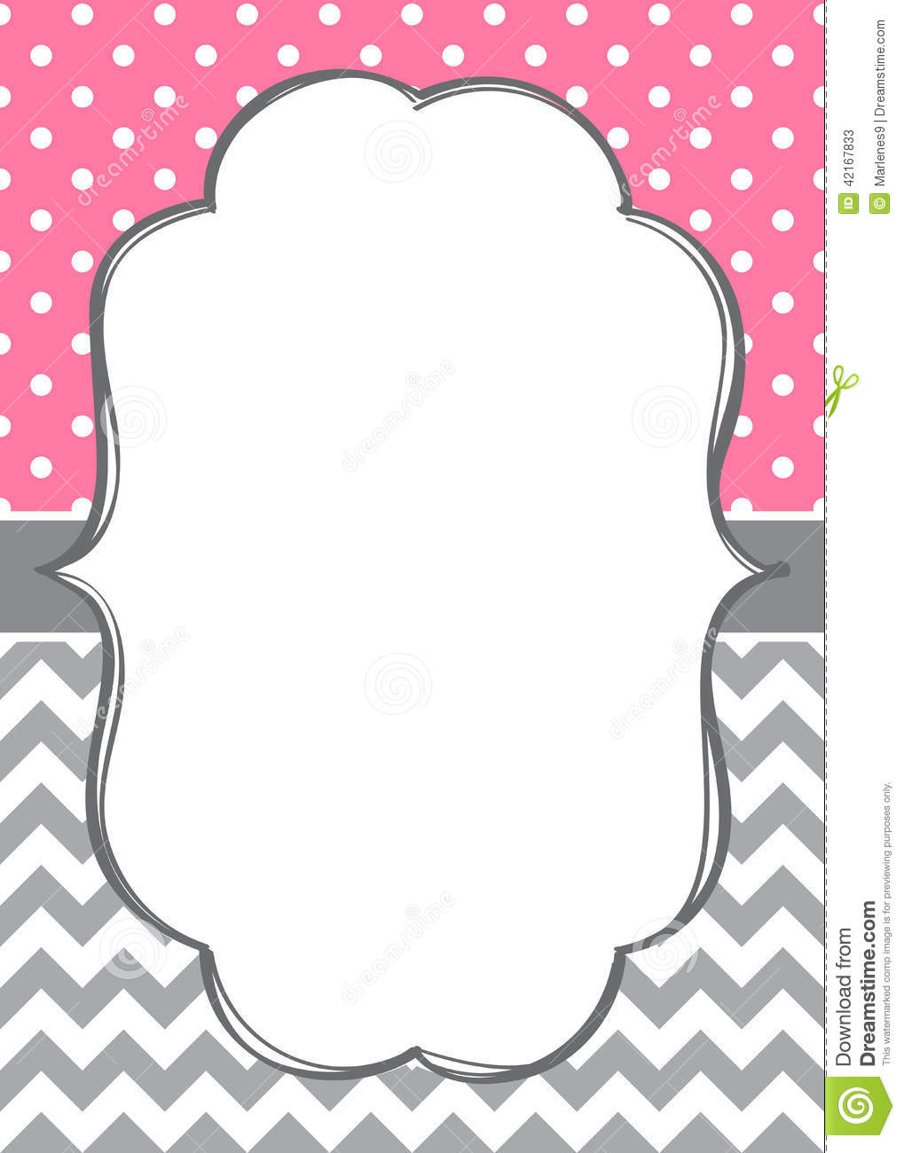 graphic relating to Free Printable Chevron Pattern identify Invitation card template inventory vector. Example of