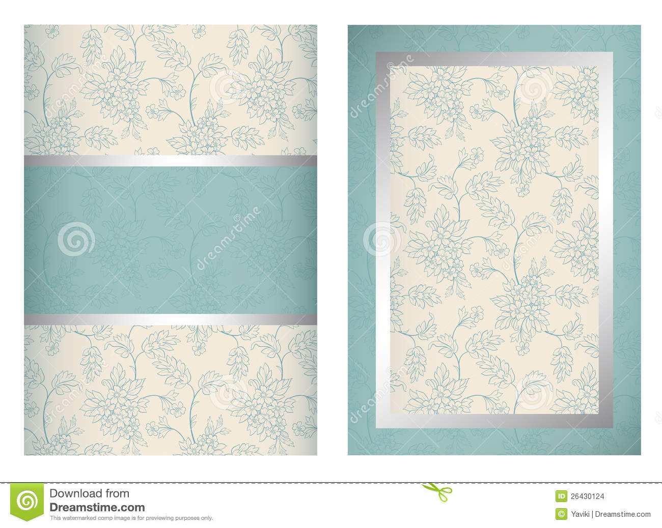 Invitation Card Template Vertical Stock Vector - Image: 26430124