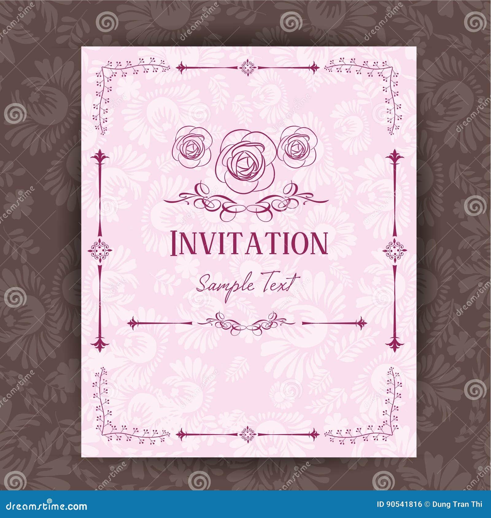 Invitation Card Vector Illustration Stock Vector