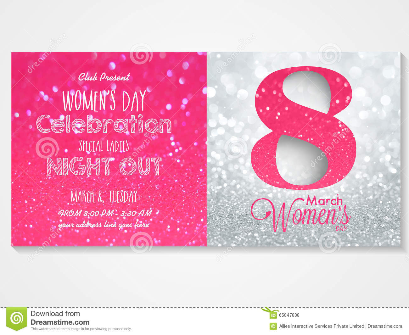 Invitation Card For Womens Day Celebration Illustration – Rom Invitation Card