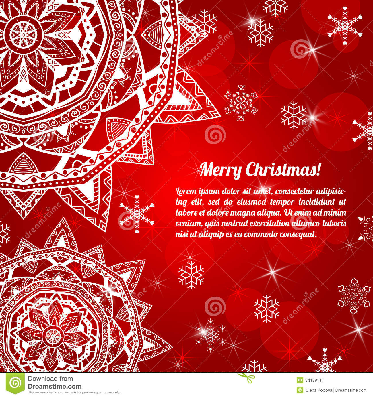 Invitation Christmas Card With Abstract Snowflakes Royalty Free – Christmas Invitation Cards