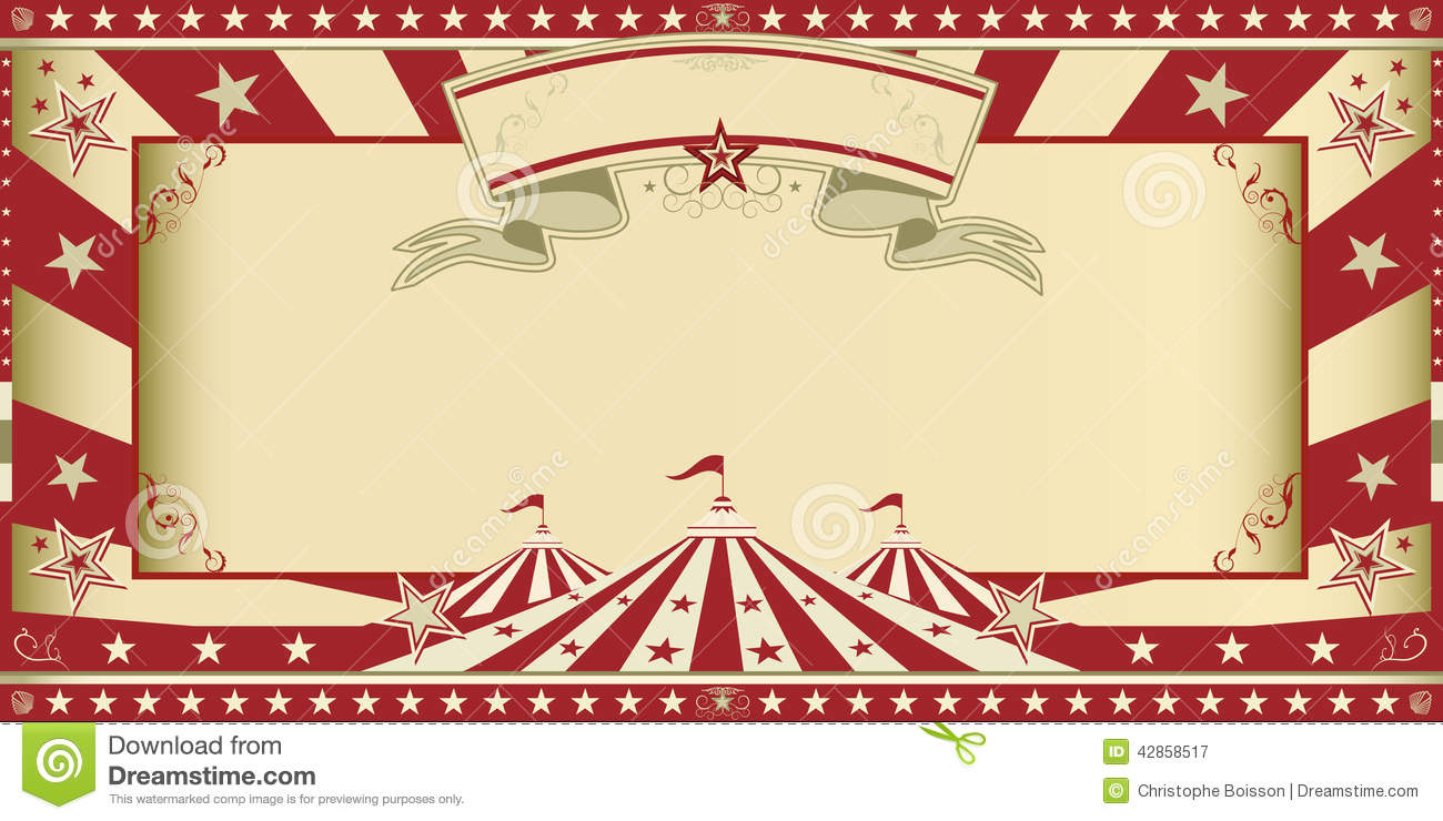Invitation Circus Show Stock Photo Image 42858517