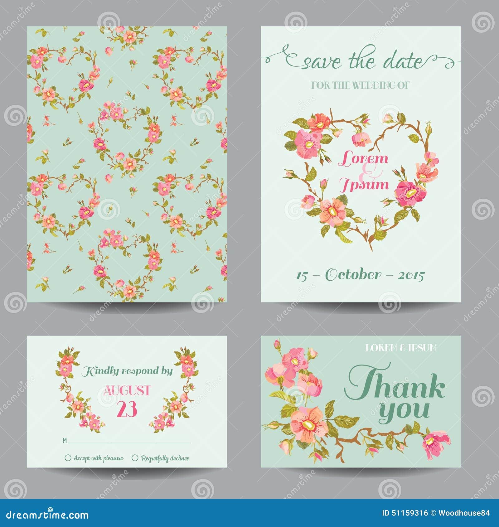 Invitation-Congratulation Card Set Stock Illustration - Illustration ...