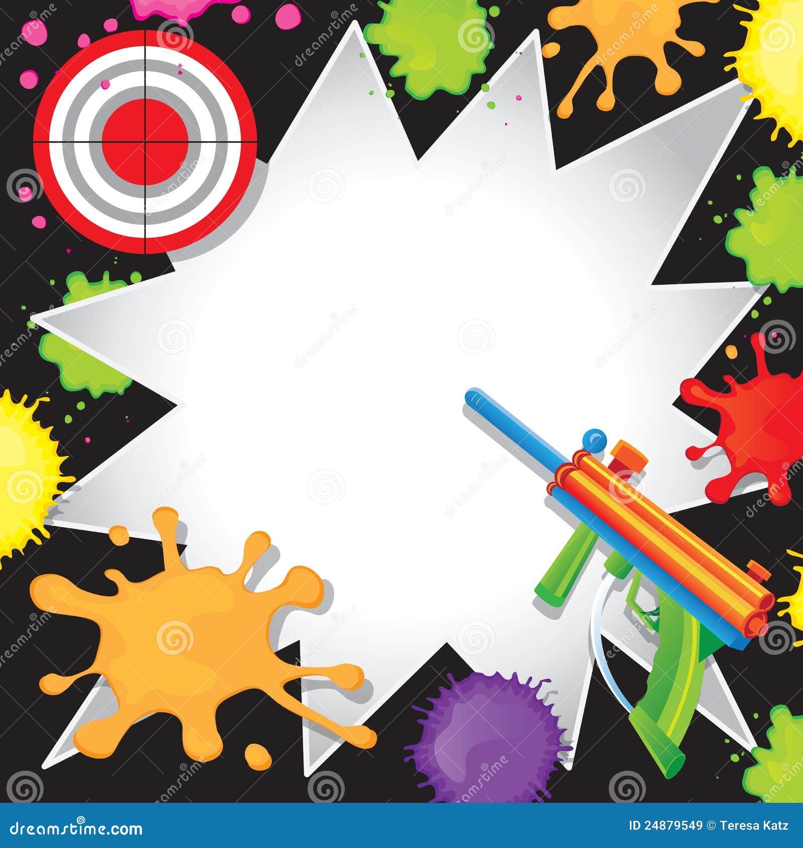 Invitation D Anniversaire De Paintball Illustration De Vecteur