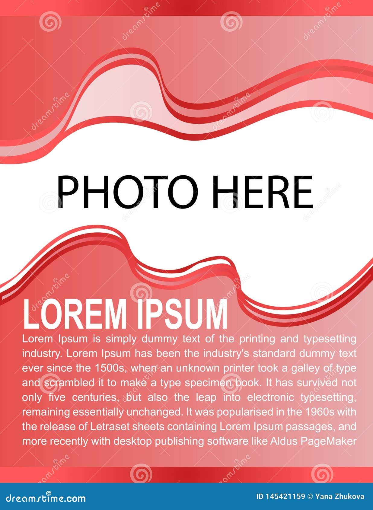 Invitation de carte d affiche de brochure de présentation d abrégé sur calibre de la conception a4 d insecte de brochure d aff