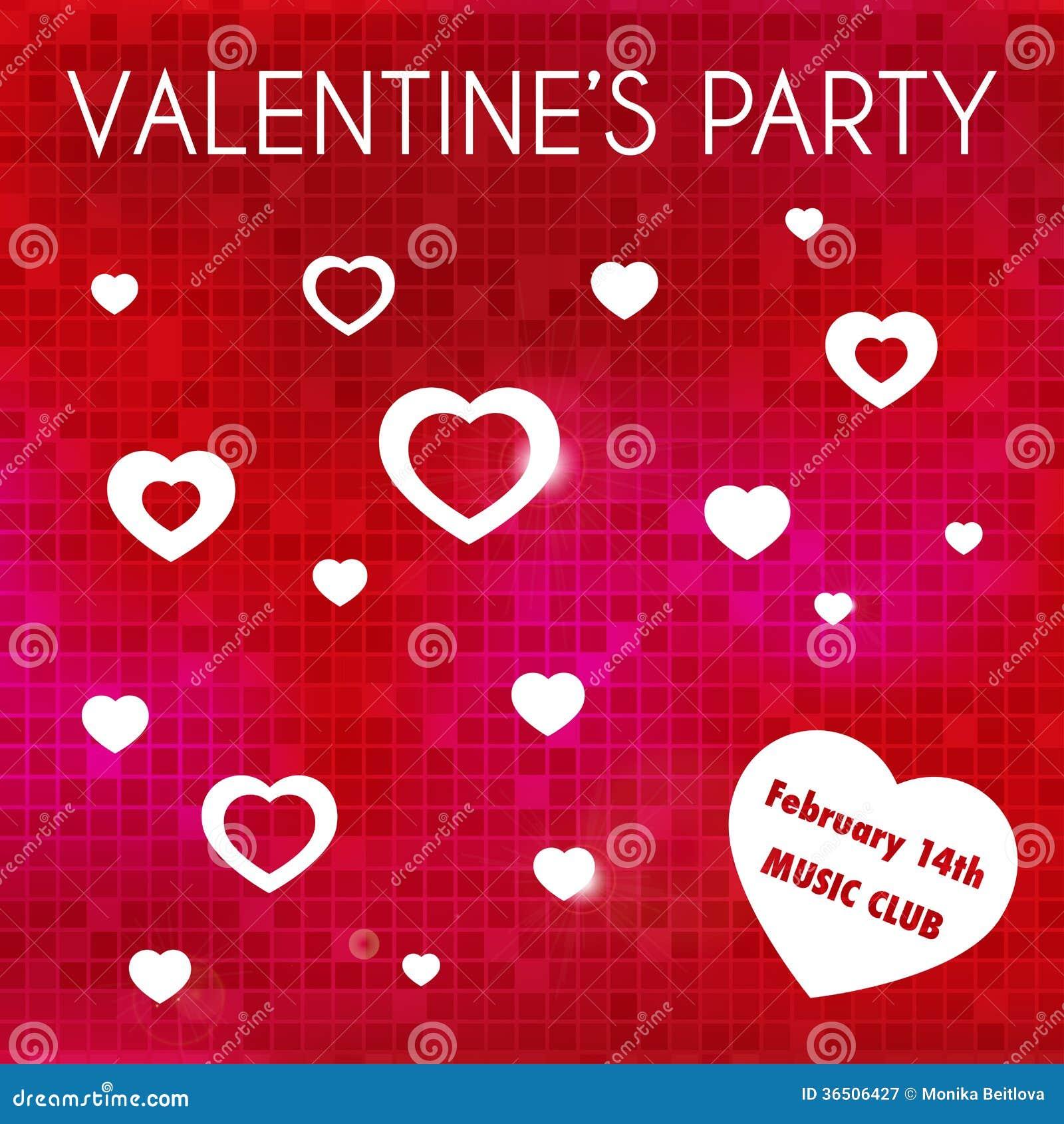 Invitation de la partie de Valentine