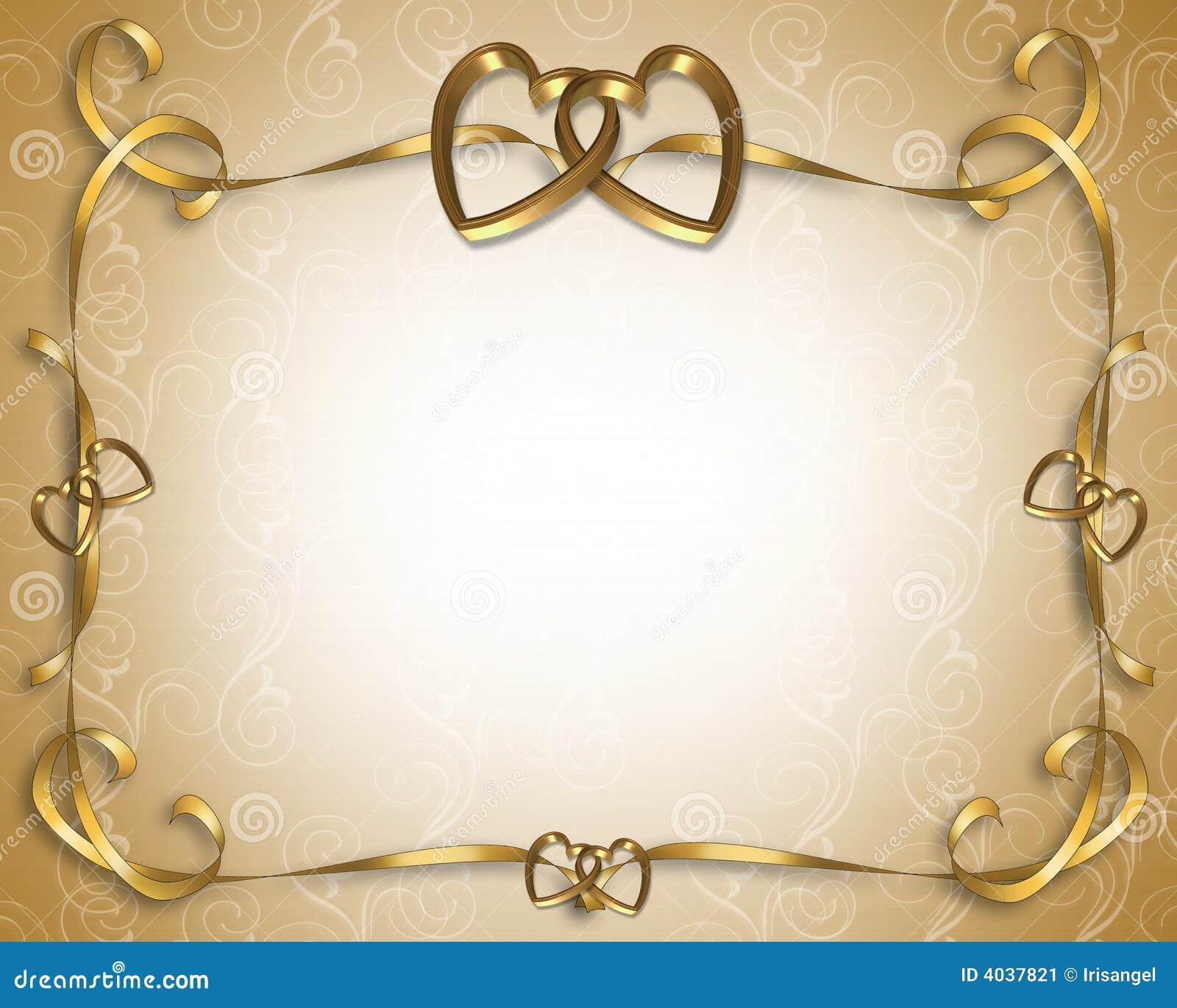 Invitation de mariage d or