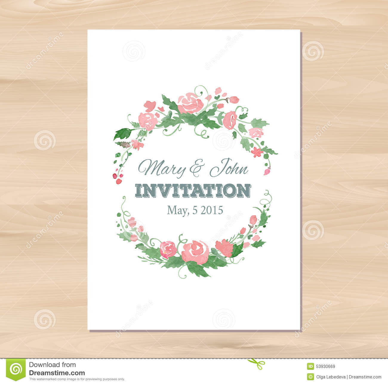 Aquarelle Invitations de mariage