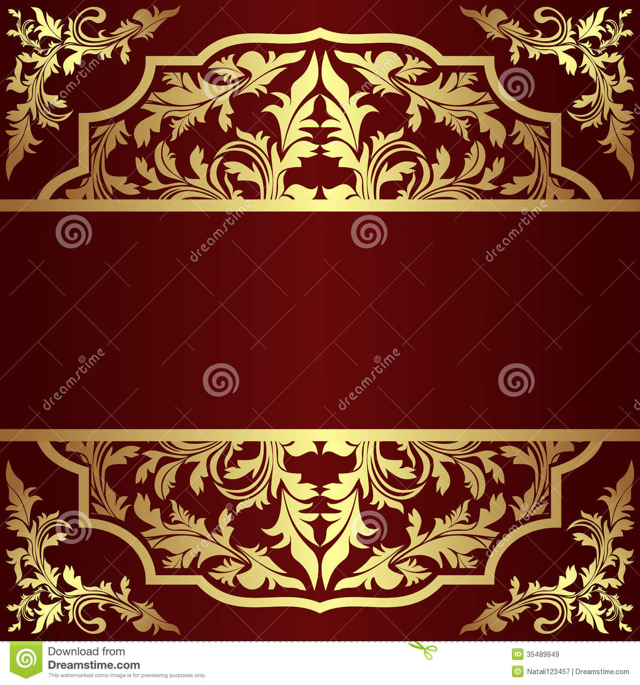 Invitation Design Template With Golden Royal Elements