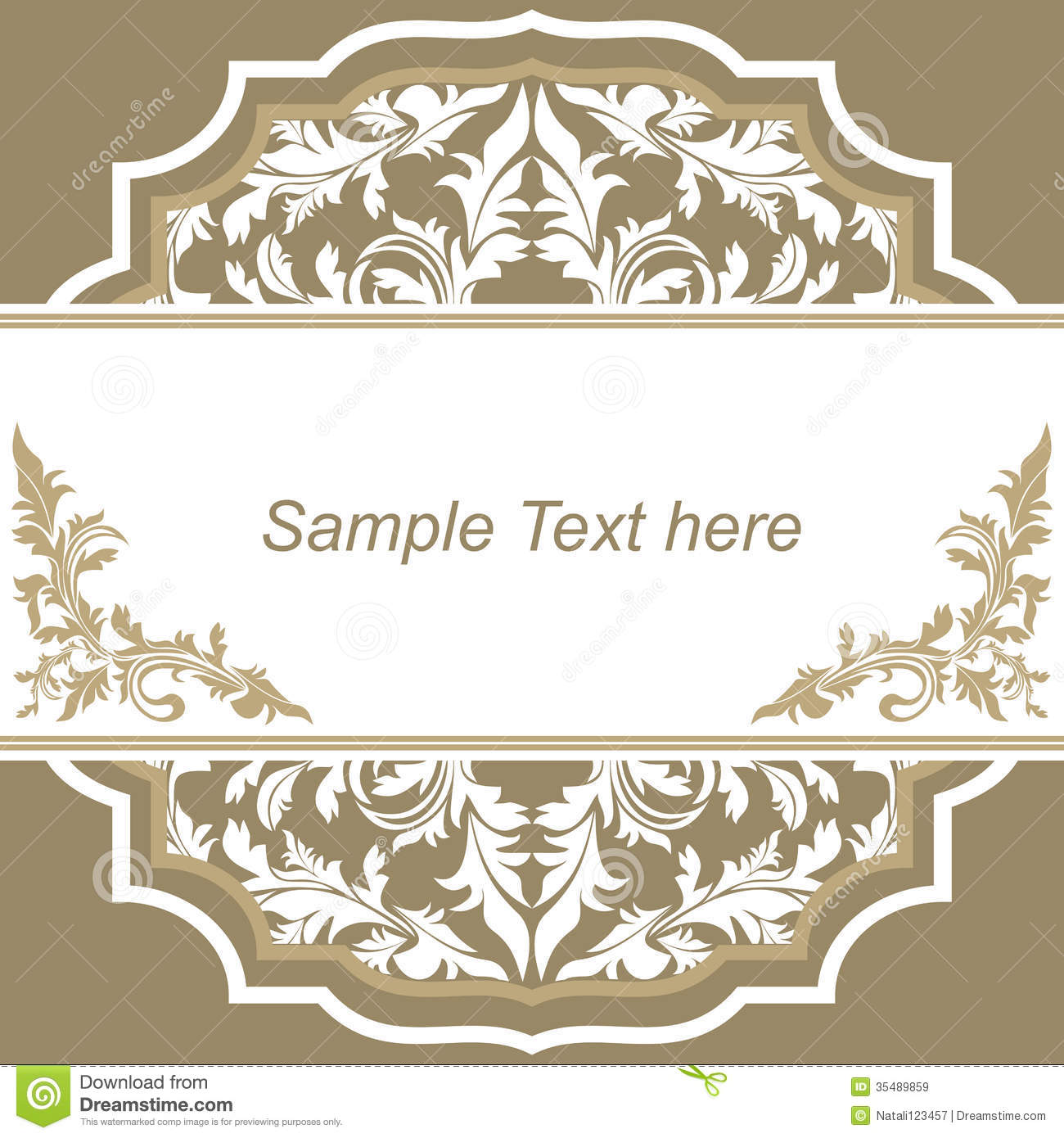 Create Invitation Template: Invitation Design Template. Stock Vector