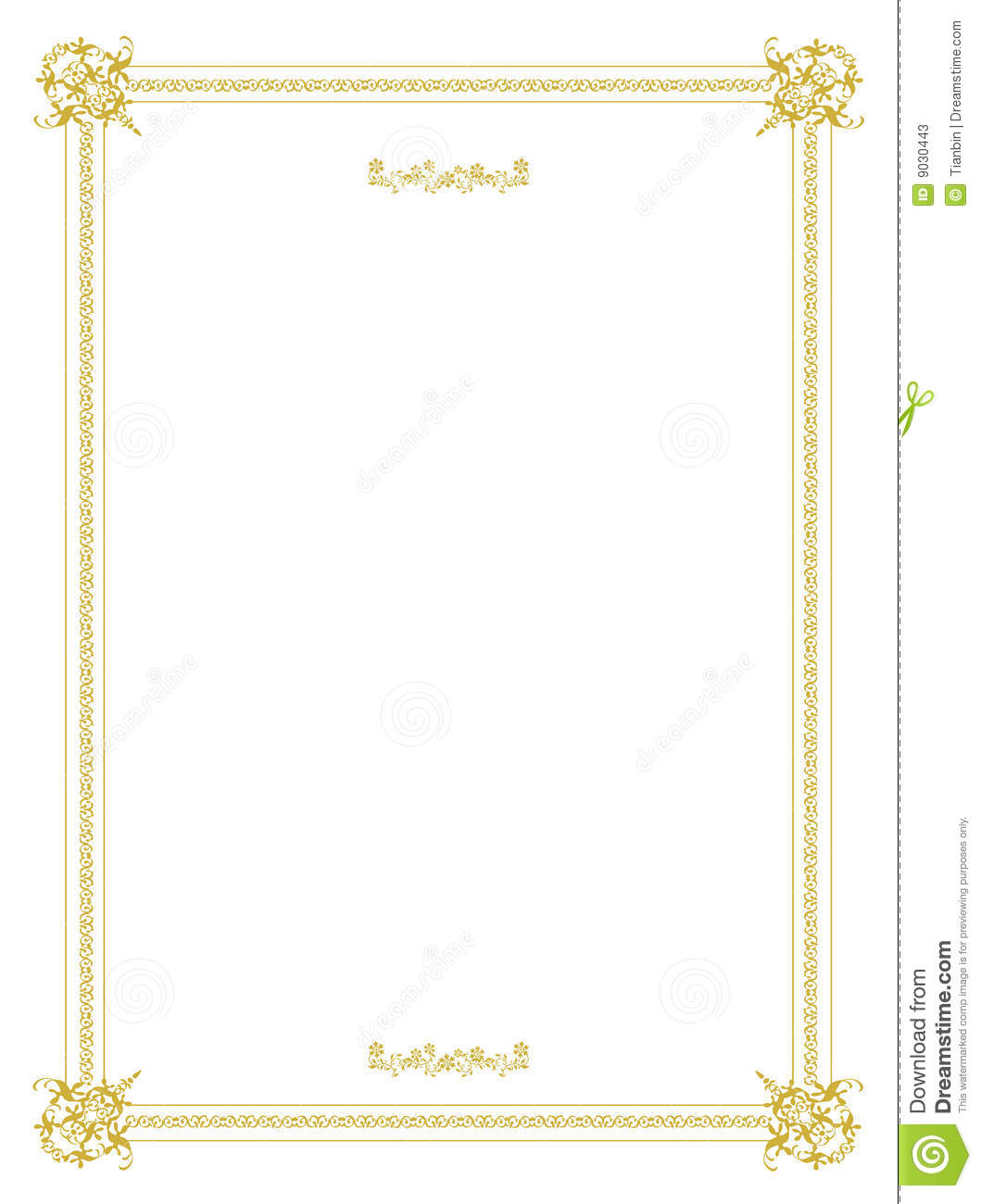Invitation Frame Design stock vector. Illustration of clean - 9030443