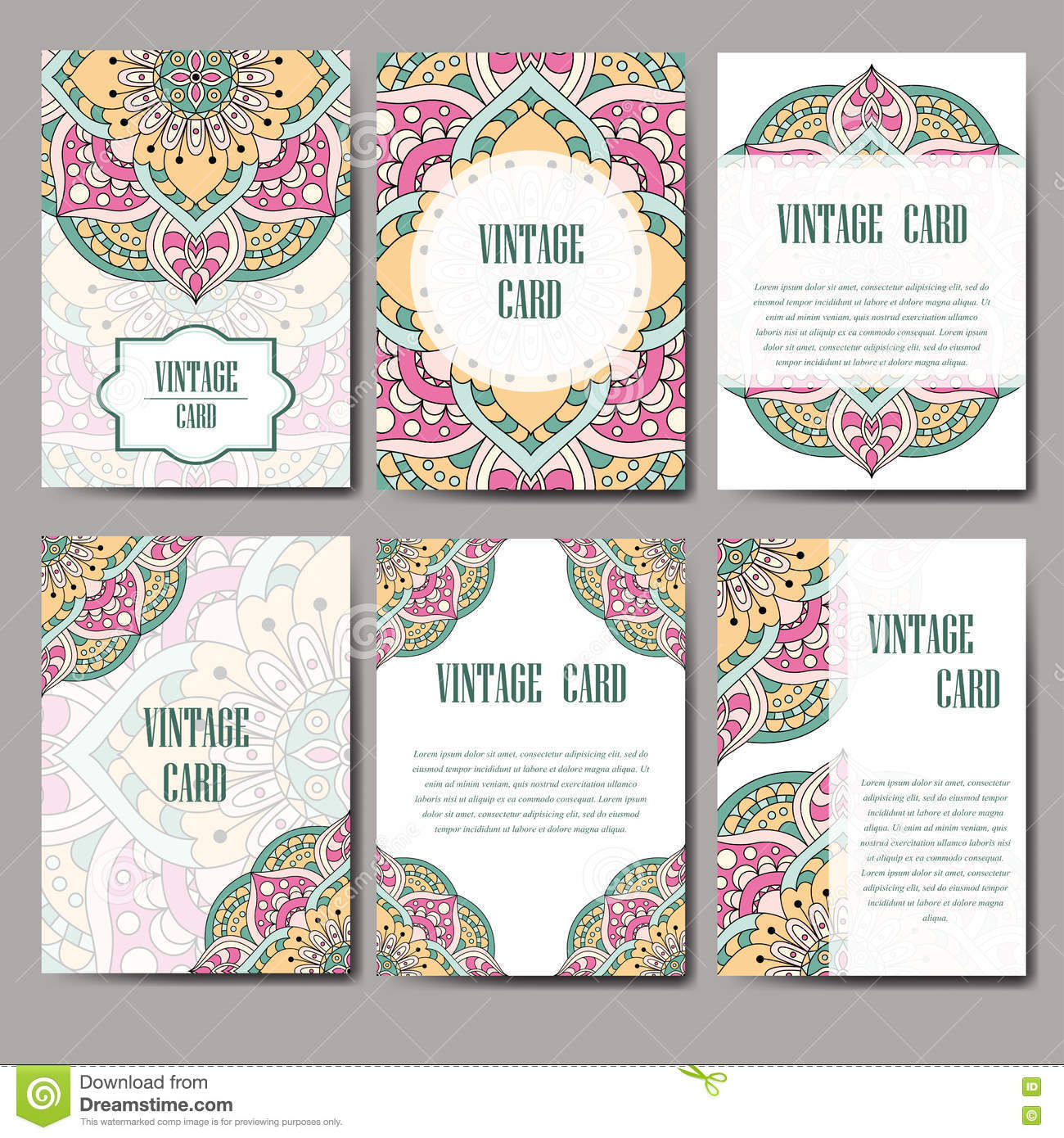 Ornament party invitations - Invitation Graphic Card With Mandala Decorative Ornament For Card Design Wedding Bithday