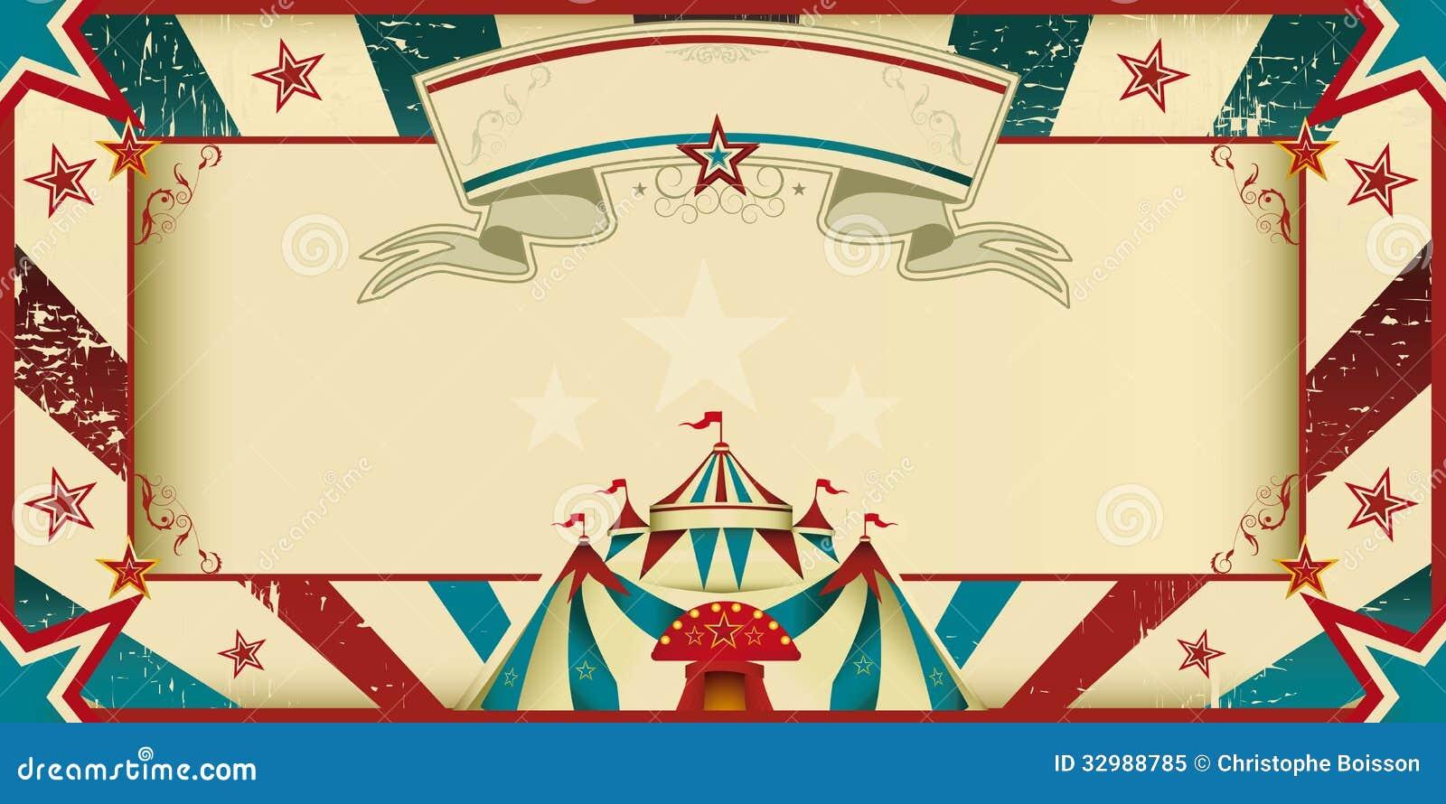 Invitation sale de cirque