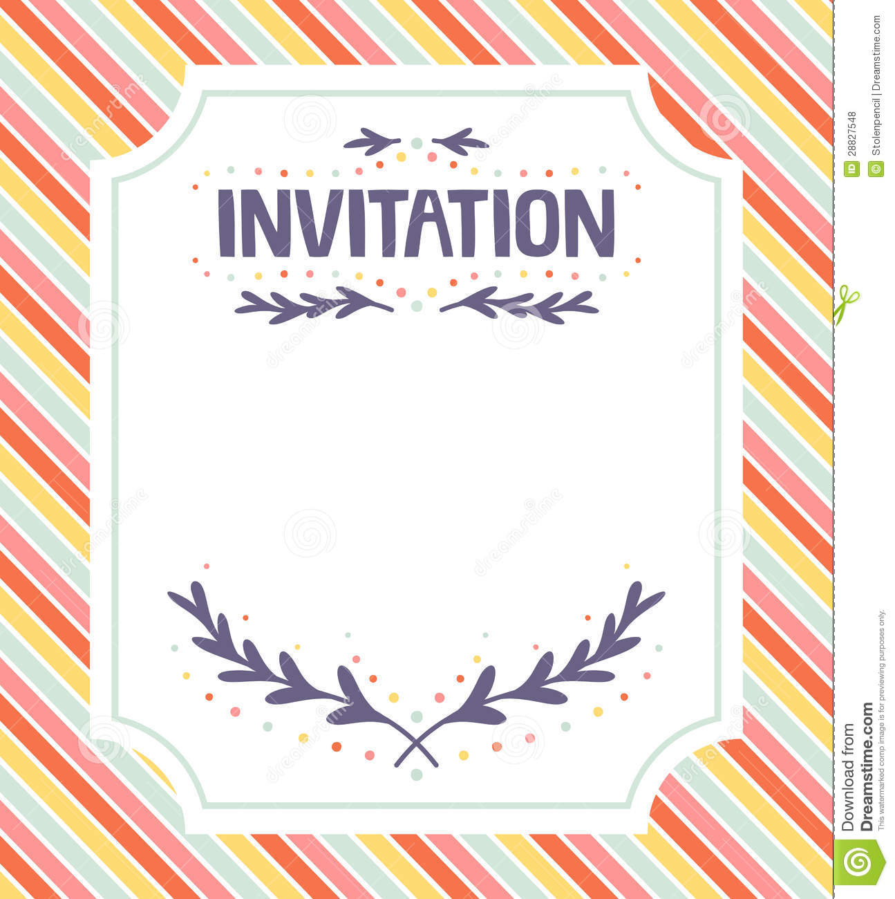 Invitation Template Stock Vector Illustration Of Occasion 28827548