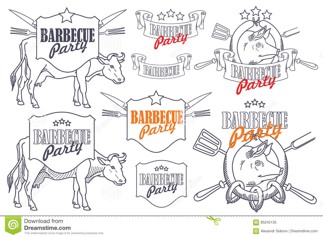 Invitation template for barbecue party stock vector illustration download invitation template for barbecue party stock vector illustration of illustration steak stopboris Images