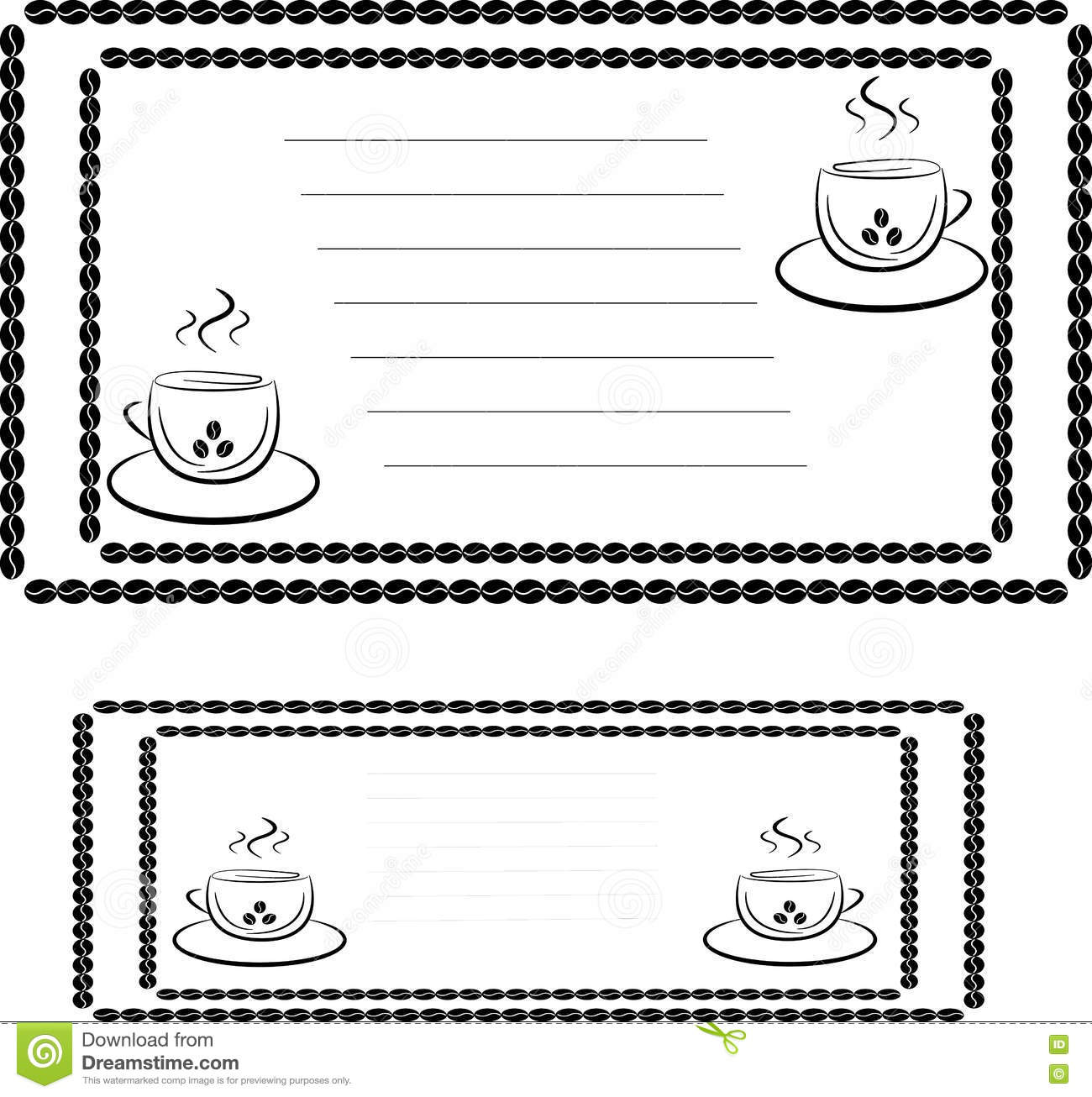 invitation template for a coffee house or cafe stock vector