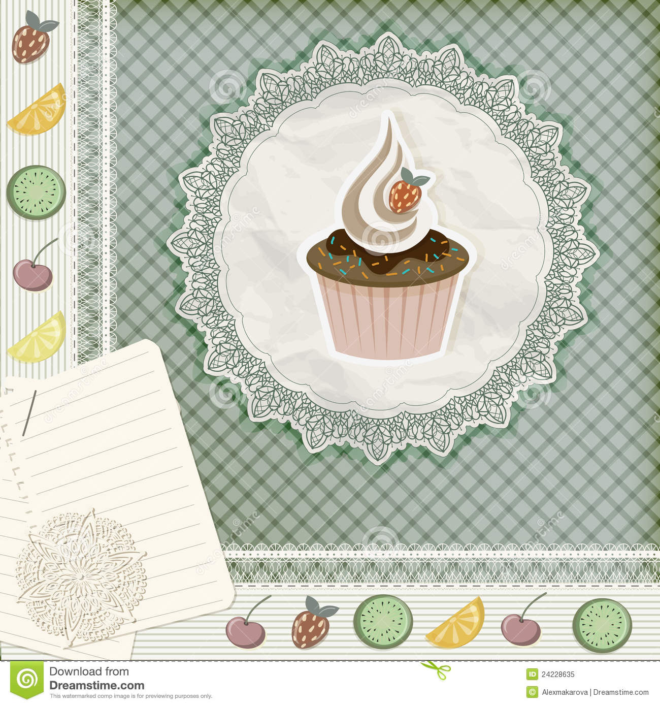 invitation template with cupcake royalty free stock photo image