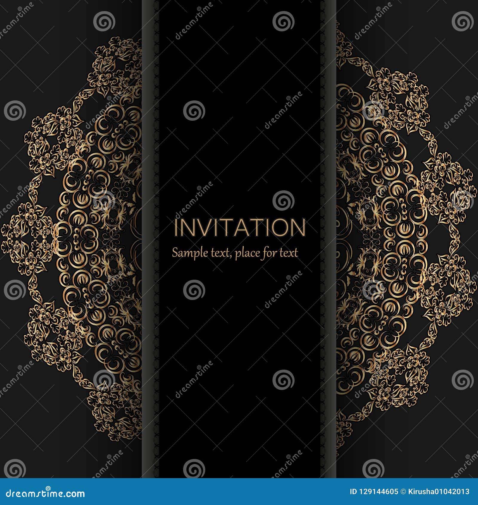 Invitation Template. Modern Design. Wedding Invitation Or Card ...