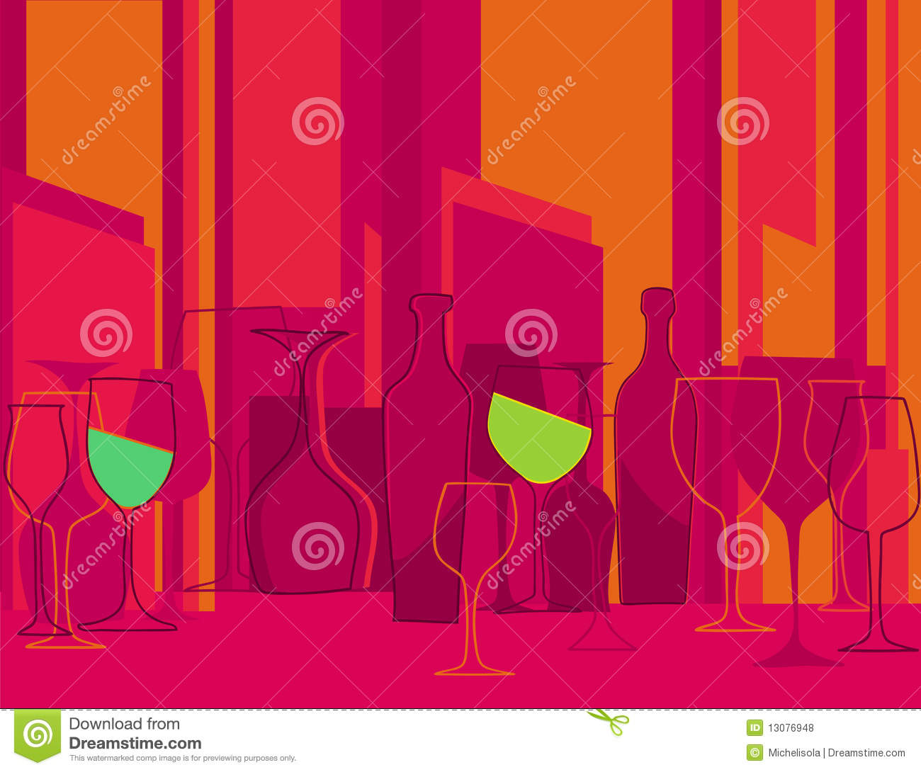 Invitation To Cocktail Party In Retro Style Stock Vector