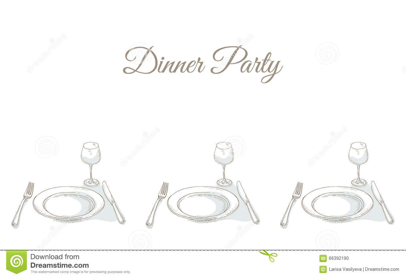 Invitation To A Dinner Party Vector Image 66392190 – Invitation to Dinner Party