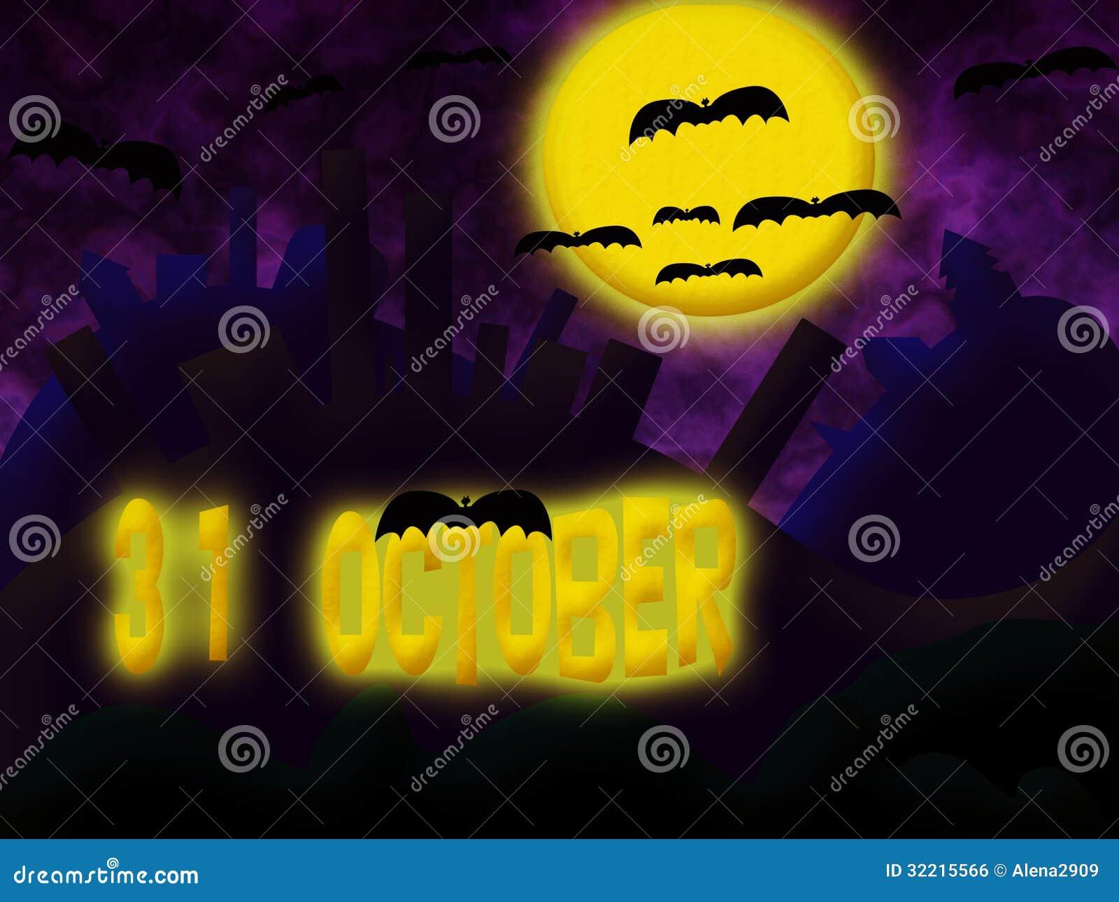 invitation to halloween. stock illustration. illustration of evil