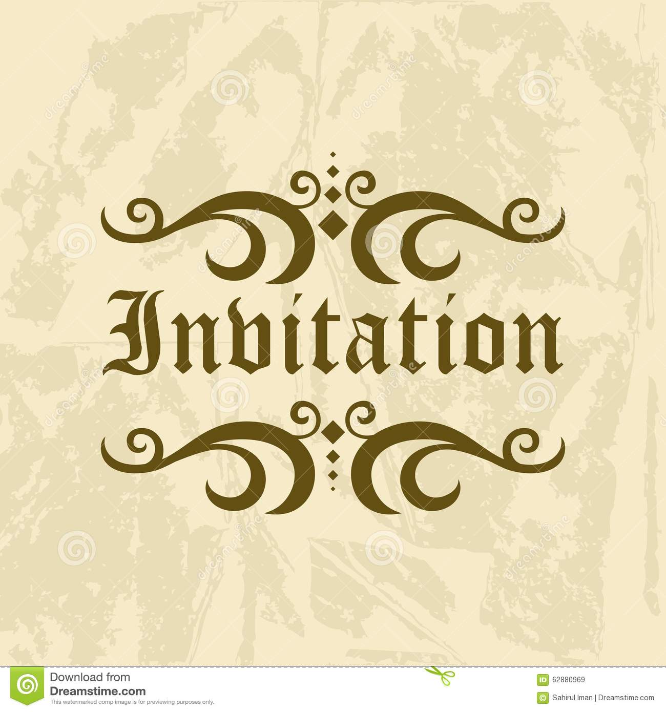 Stock Illustration Invitation Vector Template Logo Variant Image62880969 on Thank You Card Modern Graphics Cards For