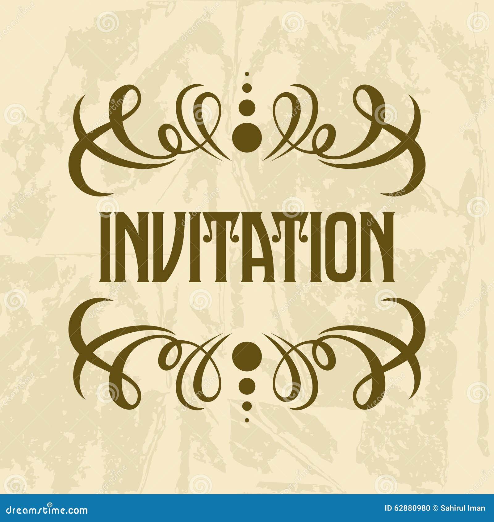 invitation vector template stock vector