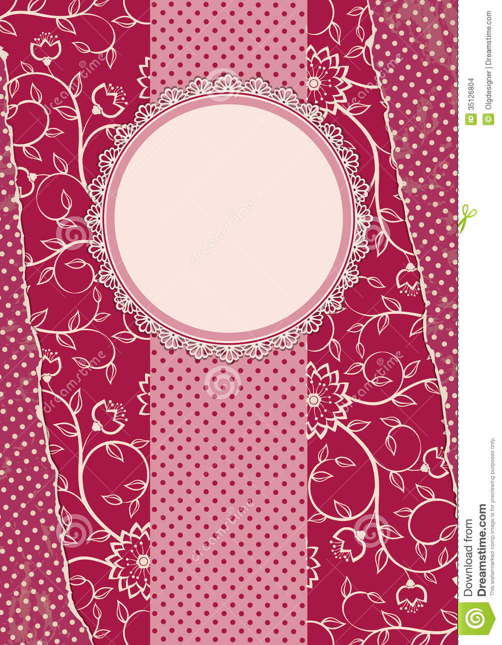 invitation vintage card with frame stock vector illustration of