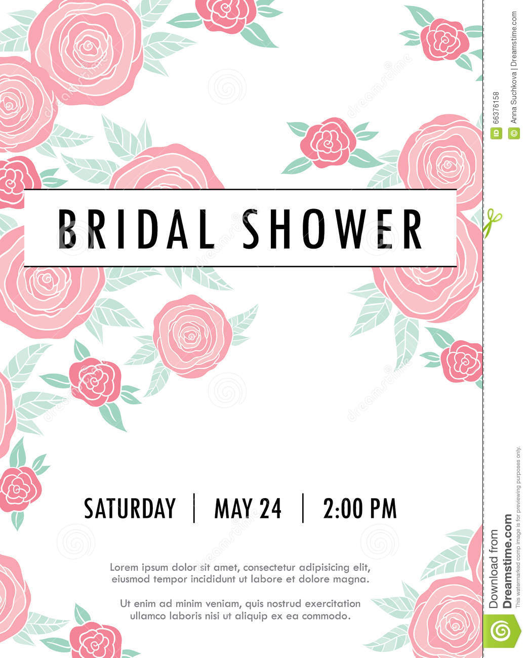 Trendy Wedding Invitation Cards: Invitation Wedding Card With Current Trendy Flowers Stock