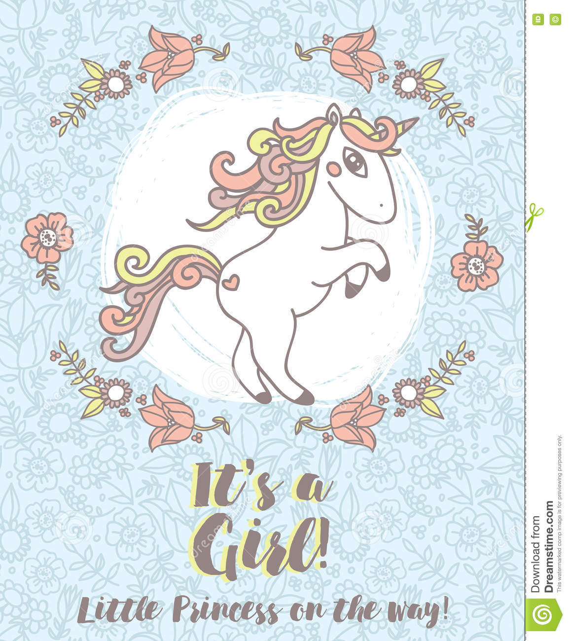 Invitations for baby shower with cute unicorn stock vector invitations for baby shower with cute unicorn filmwisefo