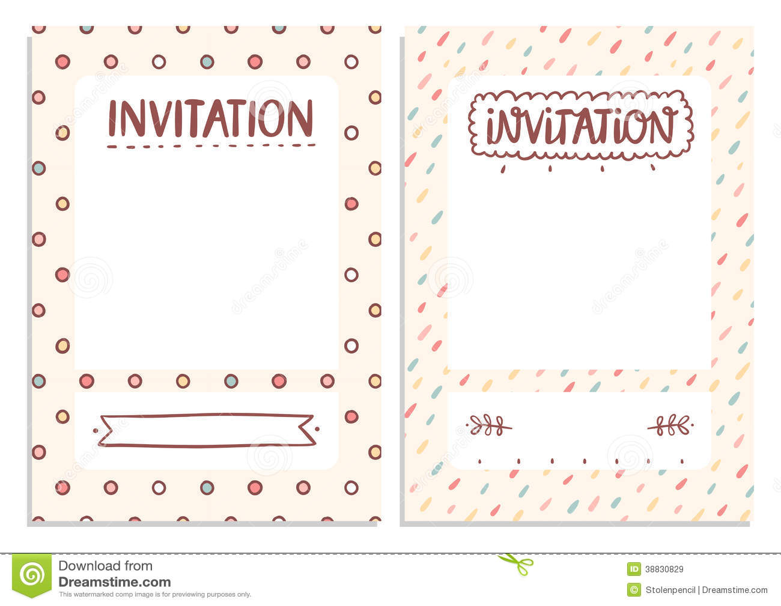 Invitations Templates Stock Illustration Image 38830829