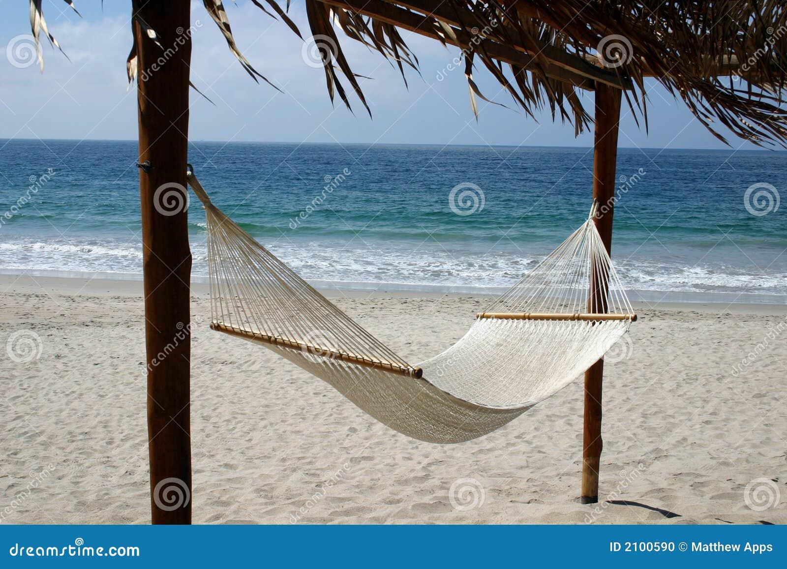 Inviting Hammock On The Beach Stock Photo - Image: 2100590