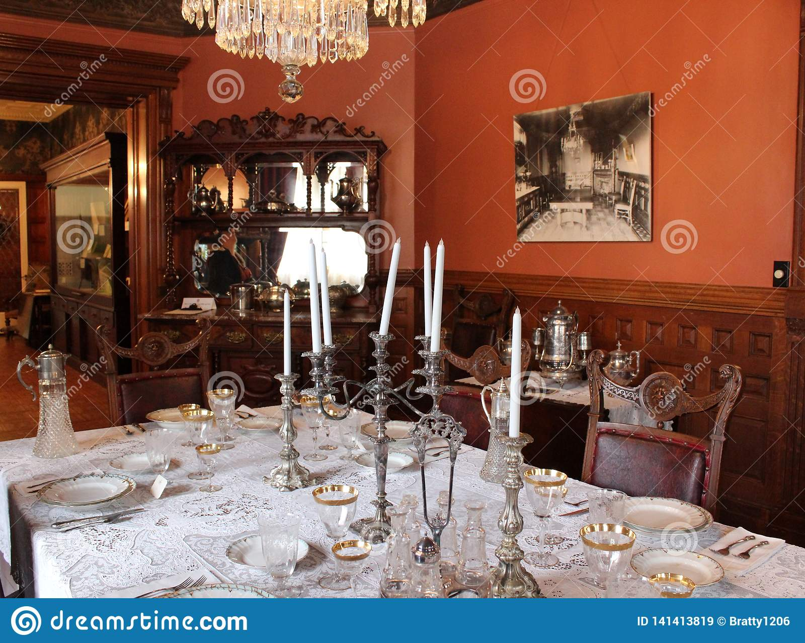 Haunted House Dining Photos Free Royalty Free Stock Photos From Dreamstime