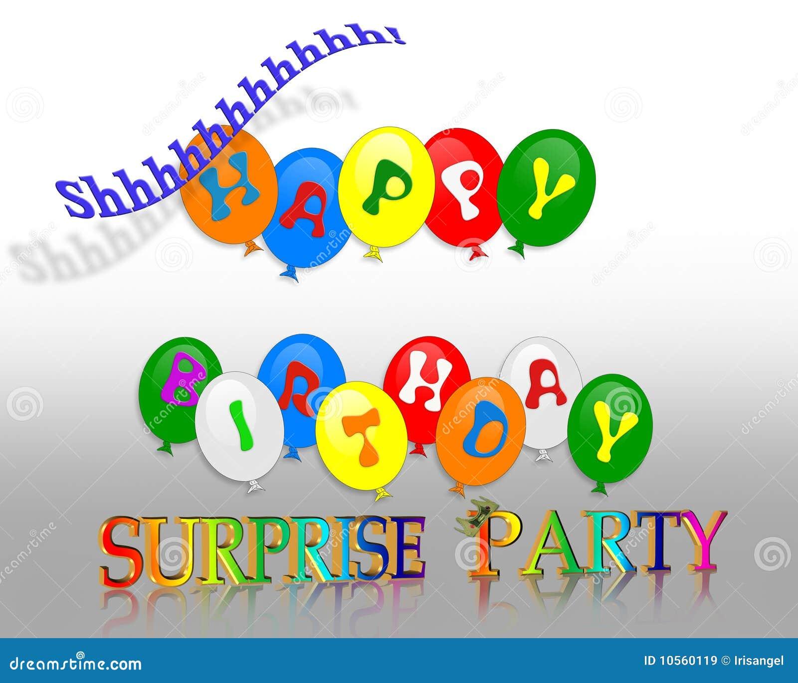 Amato La Festa Di Compleanno Balloons L'invito 3D Illustrazione di Stock  VT93