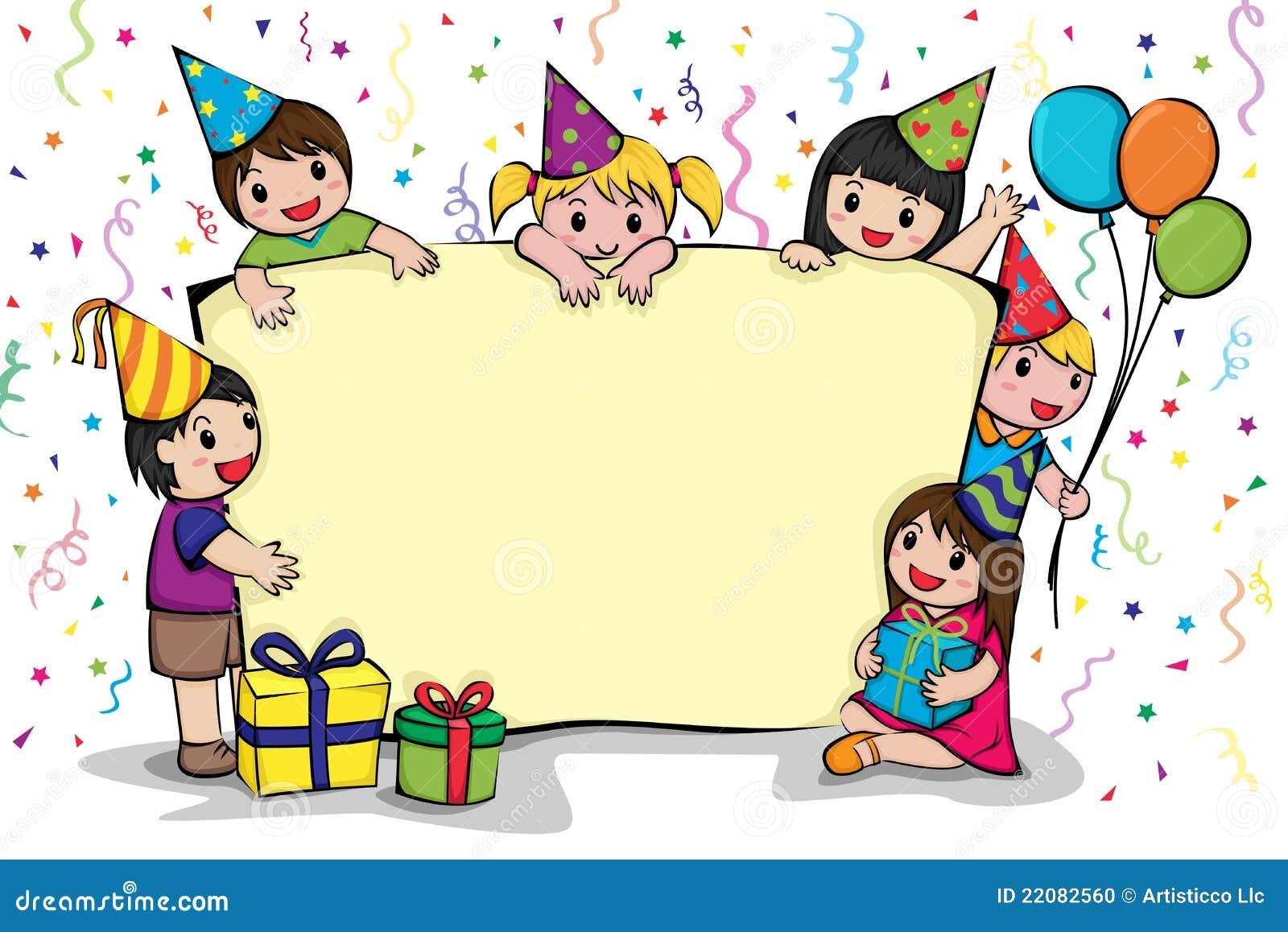 Preferenza Invito Della Festa Di Compleanno Illustrazione Vettoriale  SN83