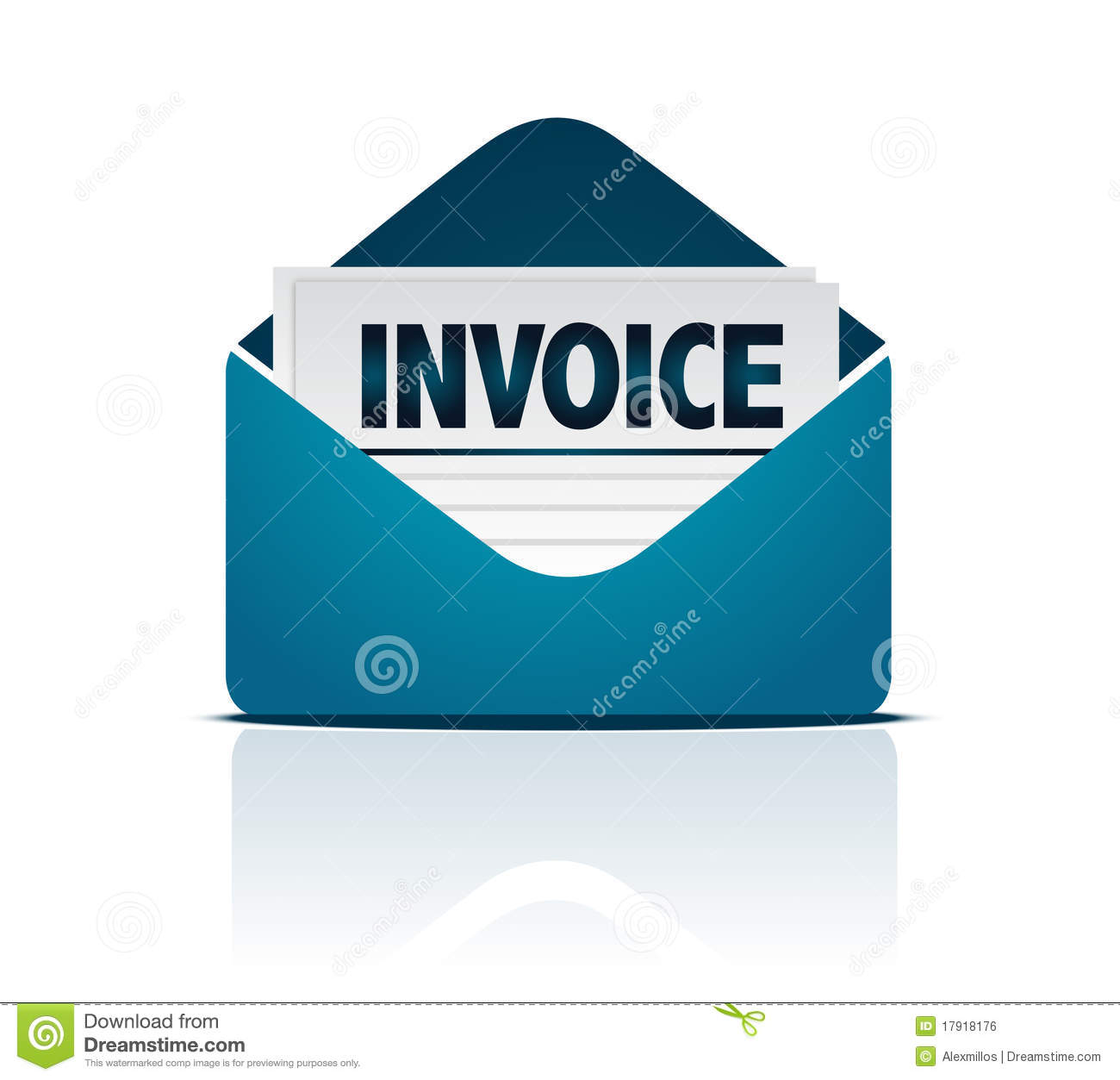 Invoice With Envelope Stock Vector Illustration Of Icon 17918176