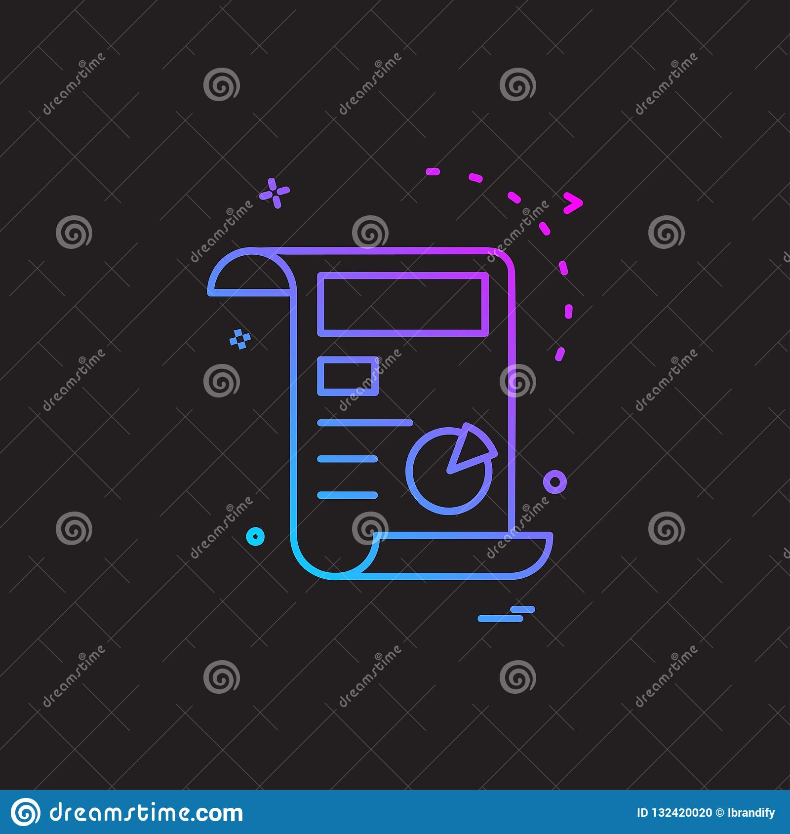 Invoice icon design vector stock vector  Illustration of