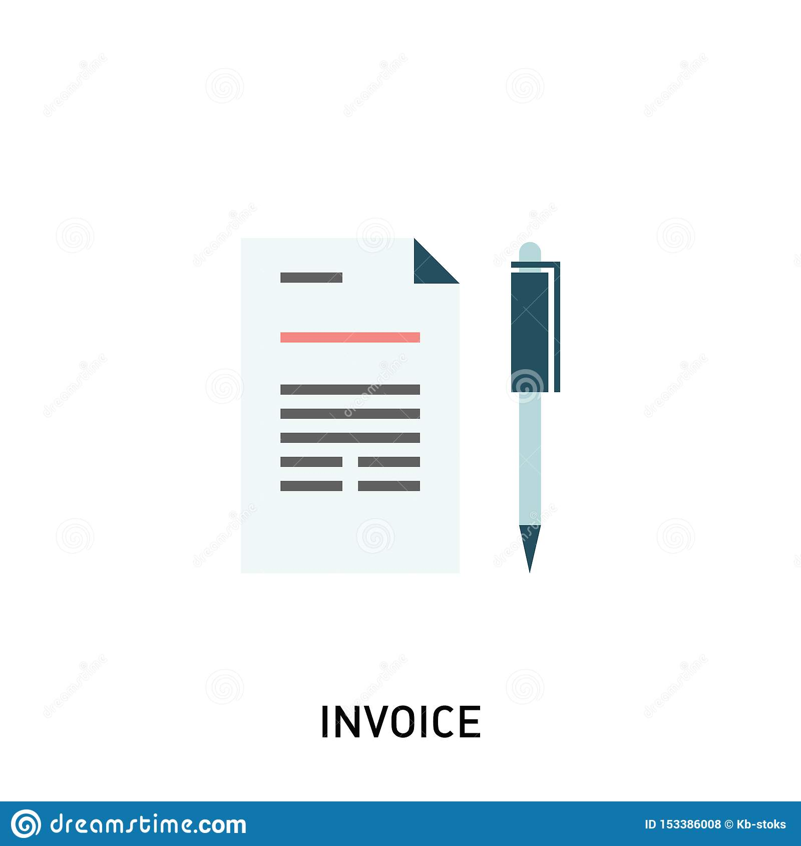 Invoice icon. Payment and billing invoices, business or financial operations sign.